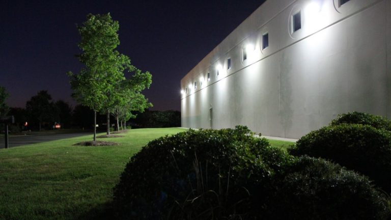 exterior security lighting for cannabis facility